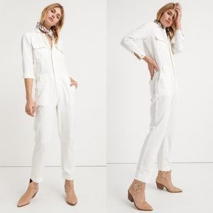 Lucky Brand White Boiler Suit Jumpsuit